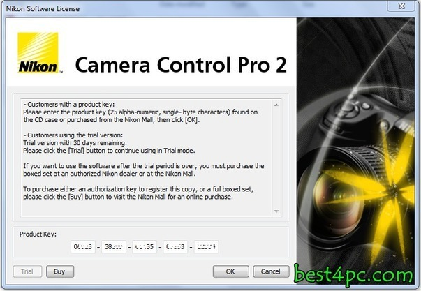 Nikon Camera Control Pro 2 Product Key Free Download