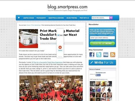 Print Marketing Material Checklist for Trade Shows | Smartpress.com ... | Print still a design force | Scoop.it