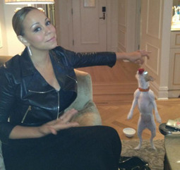 Mariah Carey's Jack Russell Loves Strawberries | The Dogington Post | Celebrity Dogs | Scoop.it
