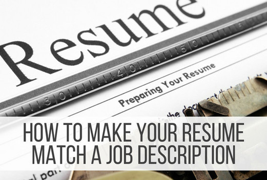 how to make your resume match a job description