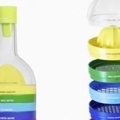 A Bottle That Ingeniously Stacks 9 Cooking Tools | Foodie dreams | Scoop.it