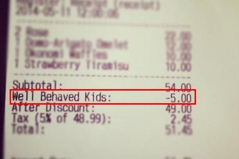 Consigue descuentos en el restaurante a cambio de que tus hijos se porten bien | Diego Coquillat | Seo, Social Media Marketing | Scoop.it