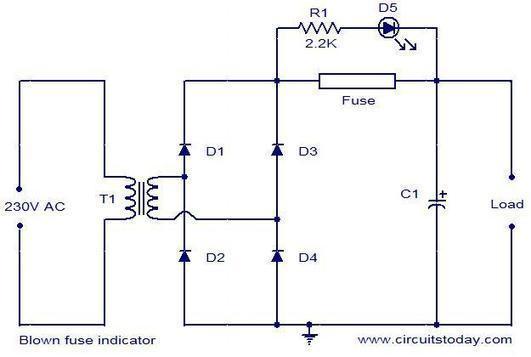 blown fuse indicator circuit electronic circu rh scoop it