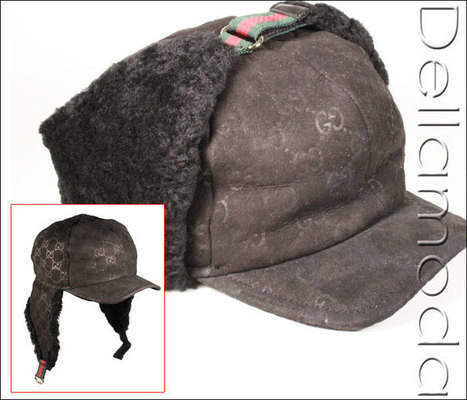 Gucci Wool   Suede Black Winter Hat (GG1608)   ... 5ae2ab67cf