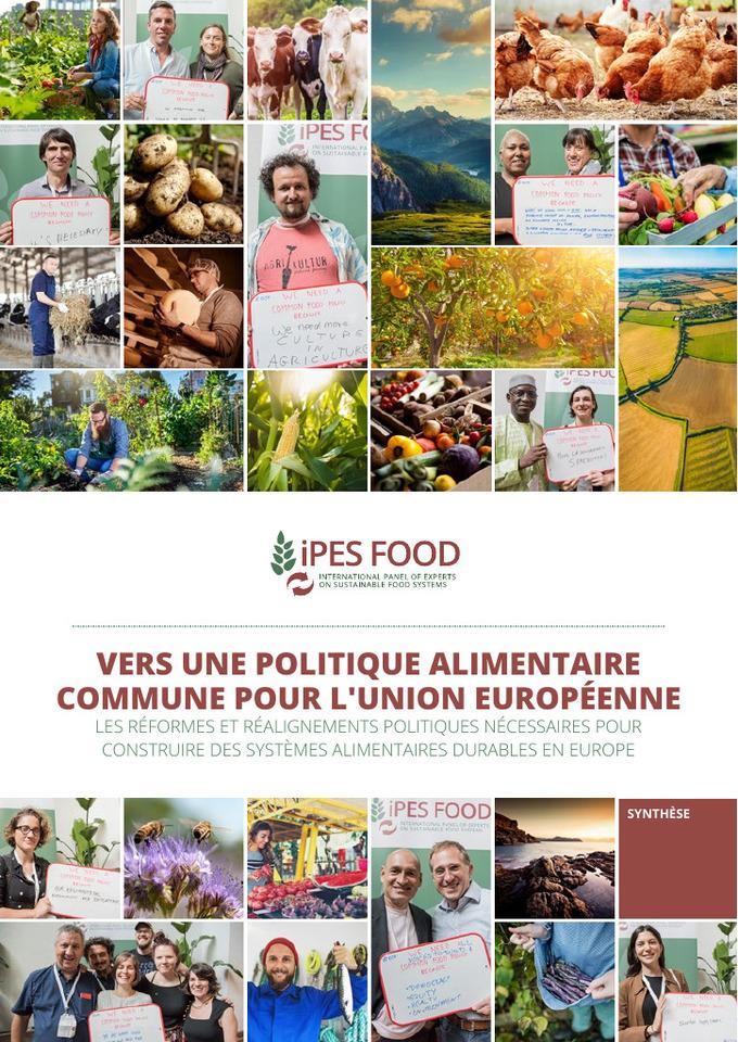 Vers une politique alimentaire commune pour l'Union Européenne (Rapport IPES Food)