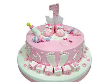 Choko La Brings Forth Baby Girl Cake Design Ide