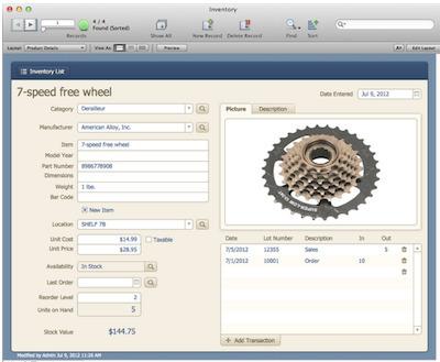 filemaker pro 13 templates - inventory filemaker pro 12 starter solution