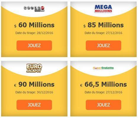 Les belles cagnottes de fin D'Année90 000 000 € à #EUROJACKPOT -85 000 000 $ au #MEGAMILLIONS | Pariez avec ASTROQUINTE | Scoop.it
