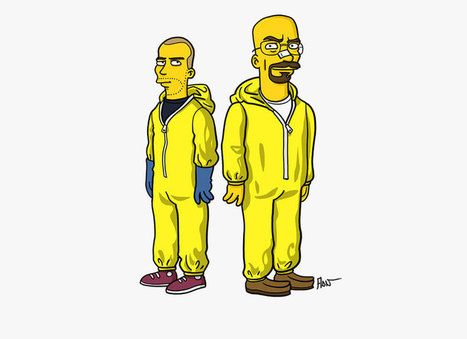 BREAKING BAD characters illustrated like the simpsons - designboom | architecture & design magazine | Machines Pensantes | Scoop.it