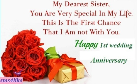 1st wedding anniversary wishes for sister brot 1st wedding anniversary wishes for sister brother in law m4hsunfo