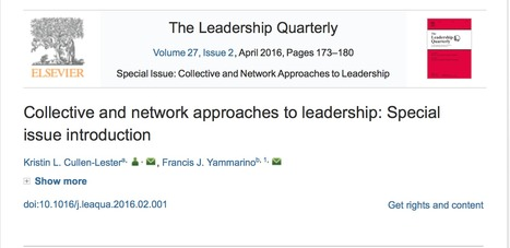 Collective and network approaches to leadership: Special issue introduction   Culture Change   Scoop.it