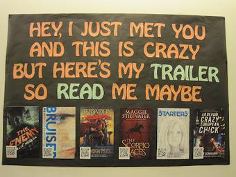 Teen Scene: *NEW* Book Trailer Display | School Library Activities | Scoop.it