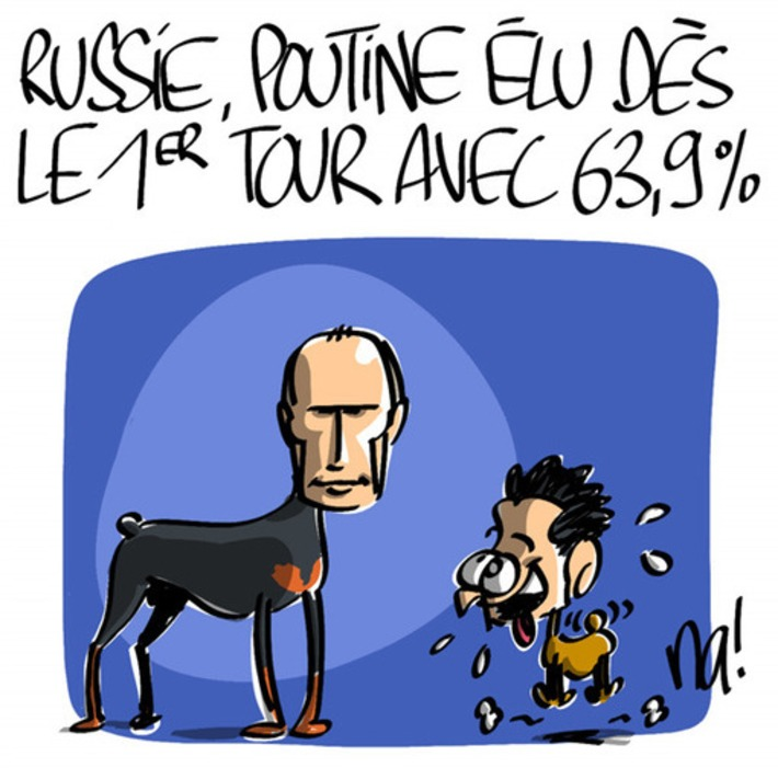Russie, Poutine élu dès le 1er tour avec 63,9% des voix   Baie d'humour   Scoop.it