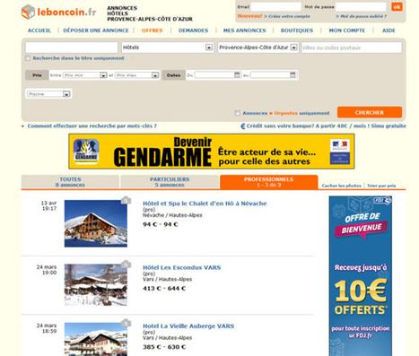 """Leboncoin.fr lance une rubrique """"Vacances"""", gratuite pour les hôteliers !   Bonnes pratiques du e-tourisme   Scoop.it"""
