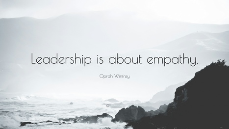 """Oprah Winfrey Quote: """"Leadership is about empathy."""" 