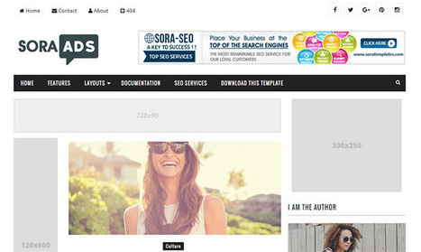 Sora Ads Blogger Template | Blogger themes | Scoop.it