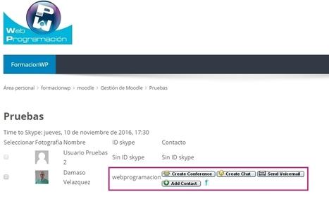 Plugin de Skype para Moodle | Plugins de Moodle | Consultoría Informática | Educacion, ecologia y TIC | Scoop.it