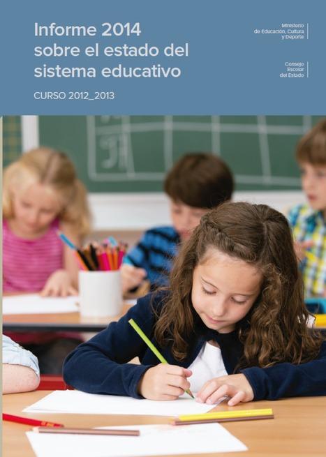 Informe 2014 sobre el estado del sistema educativo | Interactive News - Noticias interactivas | Scoop.it
