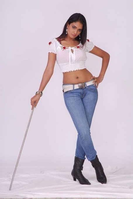 Ramya in White Transparent Short Top and Skin Tight Jeans with Back Boots   Indian Fashion Updates   Scoop.it