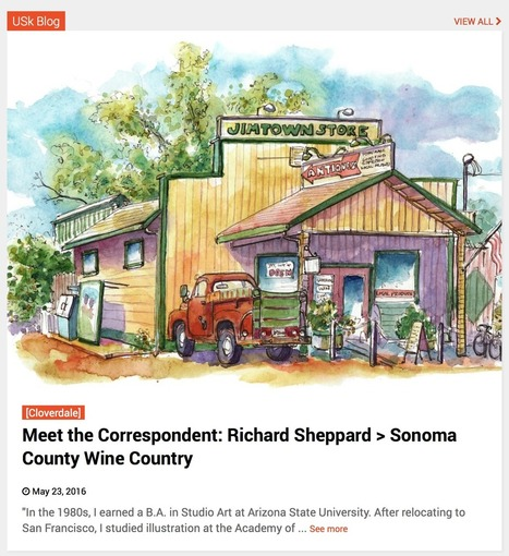 The Artist on the Road – Richard Sheppard's Sketchbooks, Watercolors, and Journals | Explore & document the World | Scoop.it