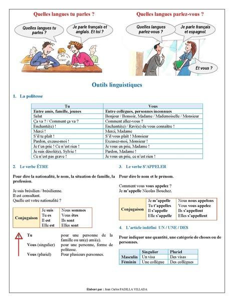 FLE - Leçon 1 - Se présenter - Page 3 | Le Top du FLE | Scoop.it
