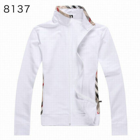 Burberry Long Sleeve Fleece Coats White Cloth For Women  189eb3043d
