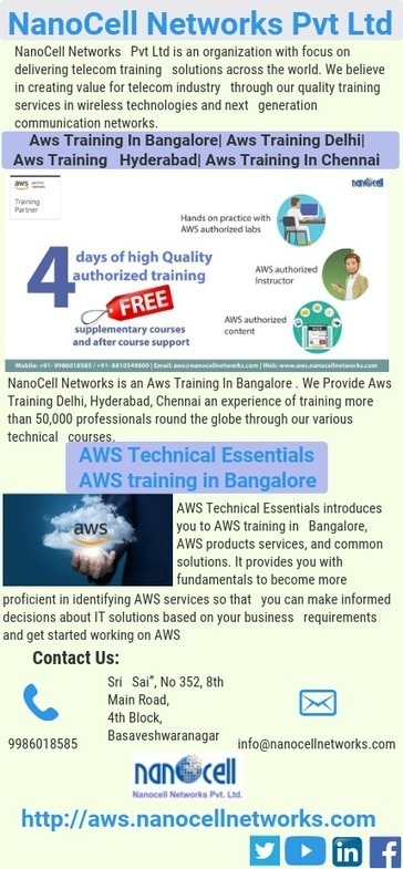 AWS training Bangalore - by nanocell network [I