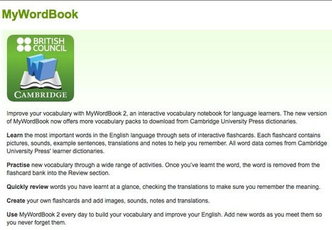 MyWordBook | L2 Vocabulary Teaching & Learning | Scoop.it