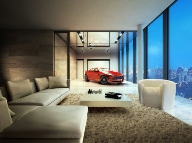 Luxury cars can parking in living room at apartment in Singapore   cars and motor   Scoop.it