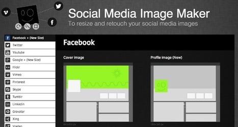Coloca imágenes a la medida en las redes sociales | #Biblioteca, educación y nuevas tecnologías | Scoop.it
