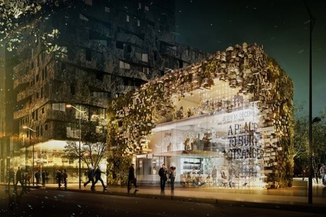 A Parisian Restaurant Design with a Pixelated Green Facade | sustainable architecture | Scoop.it
