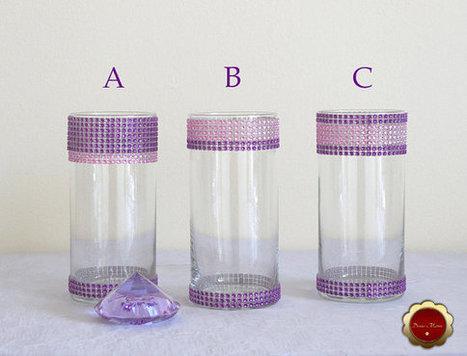 Wedding Centerpiece Rhinestone Cylinder Vase