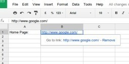 Hypertext Links in Google Sheets | Friday Fun for Elementary Education Students | Scoop.it
