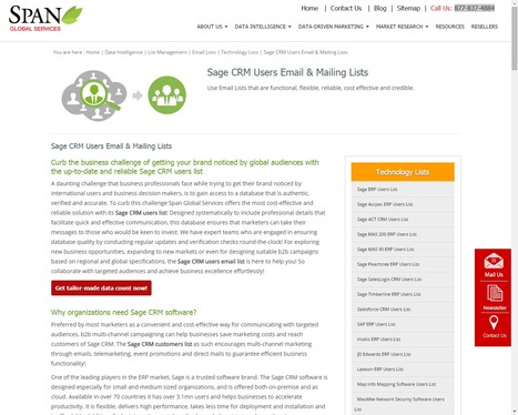 Sage CRM User List | Sage CRM Customers Email A