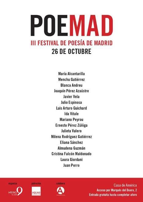 POEMAD, III Festival de Poesía de Madrid, Sábado, 26 de Octubre de 2013 | MARATÓN DE CITAS | Scoop.it