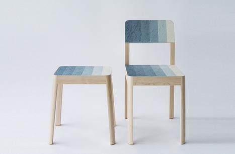 Kazuya Koke transfère le procédé de teinture du textile, sur le bois | inoow design lab | Scoop.it