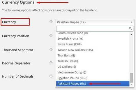 How To Add Pakistani Currency Pkrrs In Wooc