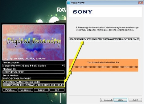 sony vegas pro 10.0 serial number and authentication code