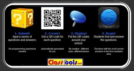 QR Treasure Hunt Generator: Een serie vragen en antwoorden in één sessie omzetten in QR-codes. | Nieuwsbrief H. van Schie | Scoop.it
