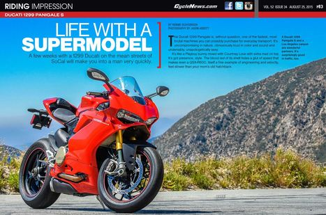 Cycle News Riding Impression - Ducati Panigale 1299 S | Ductalk Ducati News | Scoop.it
