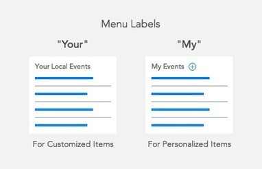 "When to Use ""Your"" or ""My"" on Menu Items - UX Movement 