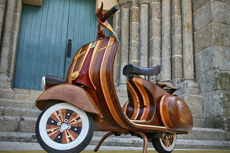Hand Crafted Fully Functional Wood Vespa   The march of the Mods   Scoop.it