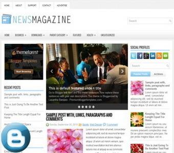 NewsMagazine Blogger Templates | Blogger themes | Scoop.it
