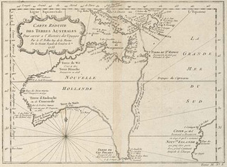 First Map Of Australia.Historical Map Of Australia 1753 Teaching Re