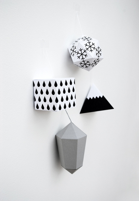 paper decorations {winter edition} | Math, technology and learning | Scoop.it