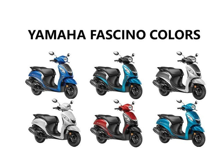 Yamaha Fascino Colors: Blue, Red, Cyan, White
