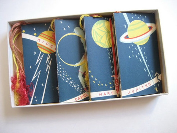 Bridge Among the Stars 1928 Outer Space Charles S Clark 16 Tallies | Antiques & Vintage Collectibles | Scoop.it