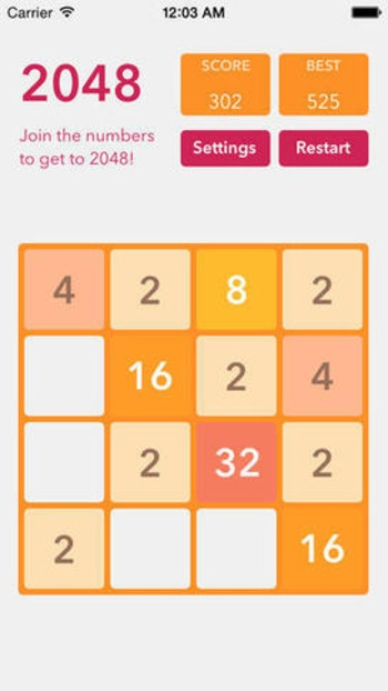 ik/2048: The iOS version of 2048, made using SpriteKit | iPhone and iPad development | Scoop.it