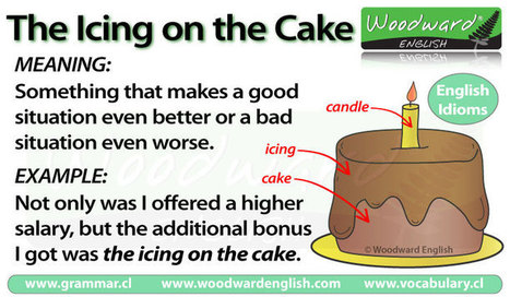 The icing on the cake – Idiom meaning | English Tutor Materials and Resources | Scoop.it