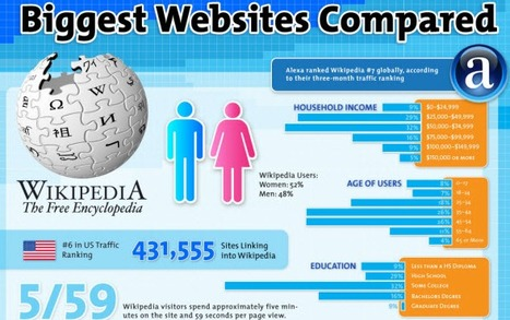 Wikipedia, Amazon, YouTube, Twitter, Facebook, eBay: le comparatif des géants ★ FrenchWeb via @173Sud | infographies | Scoop.it